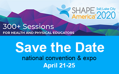 shape america national convention 2020 advertisement